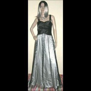Hailey Logan Adrianna Papell Black Tulle Goth Gown